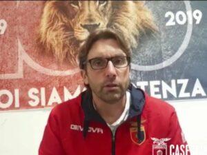 Casertana, Guidi presenta il super derby contro la Turris