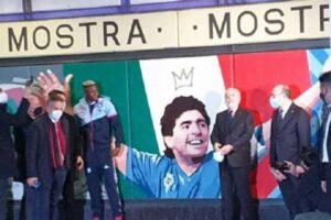 Inaugurata la stazione Mostra-Maradona, presenti Osimhen e De Laurentiis